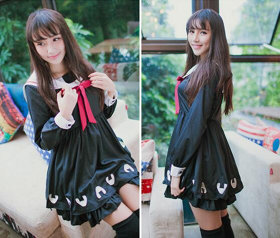 Navy Style Embroidered Lolita Dress