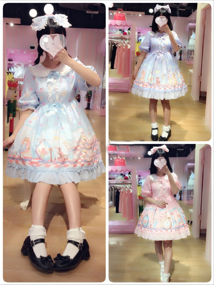 Doll Collar Half Sleeve Lolita Dress