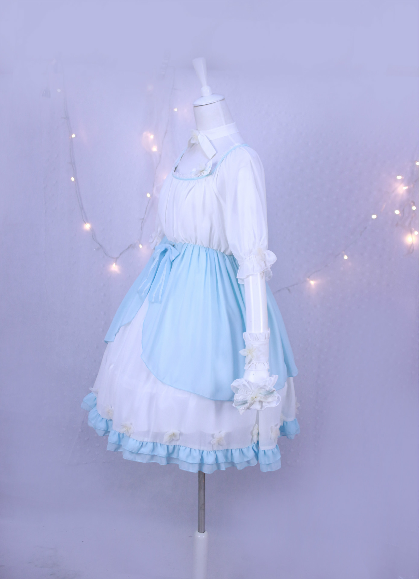 Dream Snow Girl Lolita Dress With All Accessories