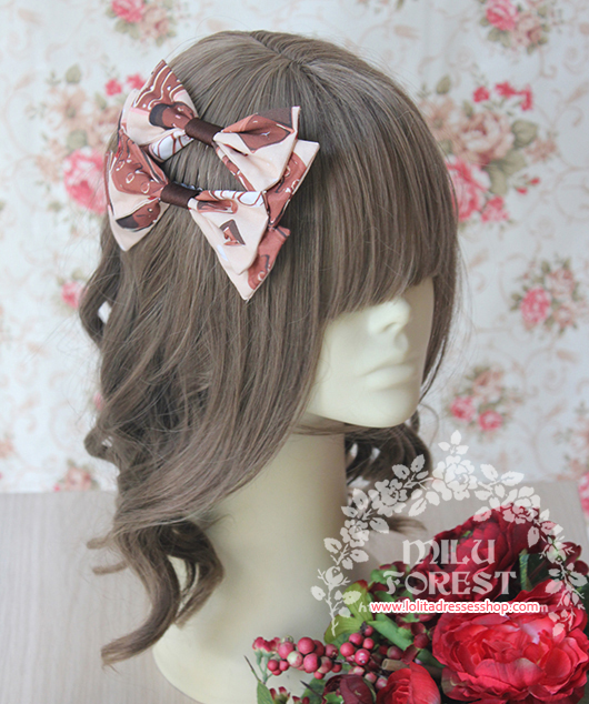 Berry Chocolate Cookies Printing Lolita Hairbrush