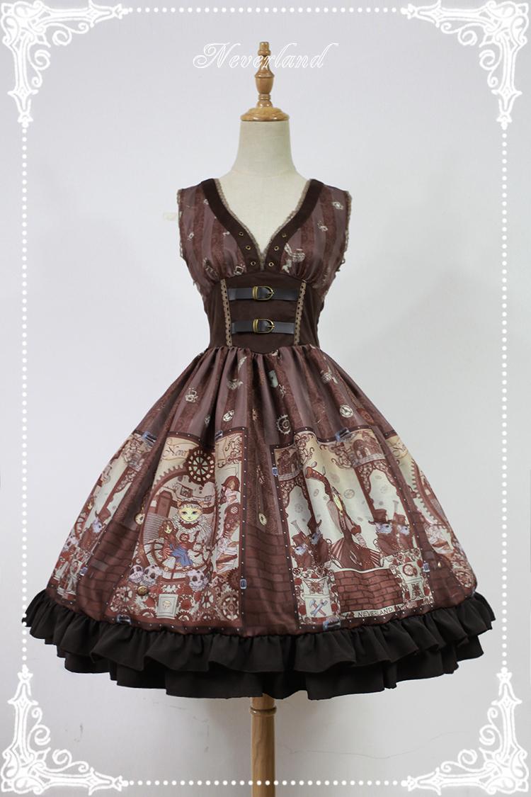 Cheap Steam Punk Cat Corset High Waist Lolita Dress Sale