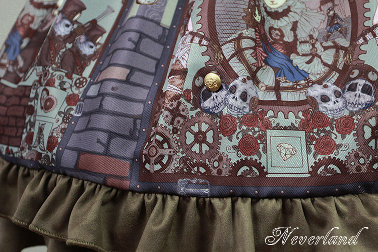 Steam Punk Cat Corset High Waist Lolita Dress