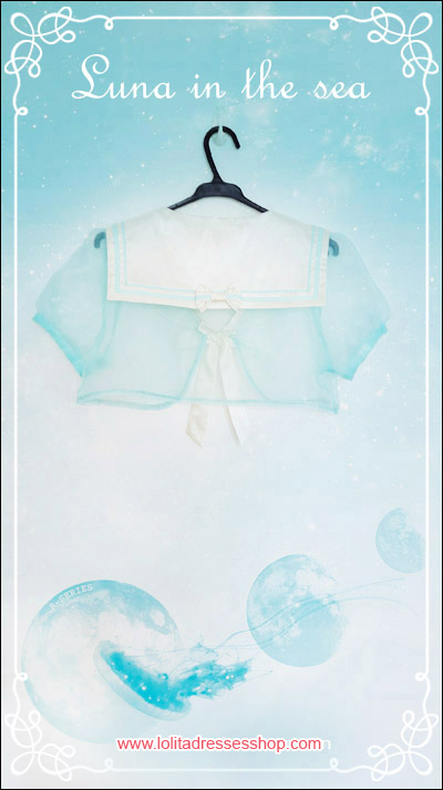 Luna In The Sea Sailor Collar Organza Lolita Bolero