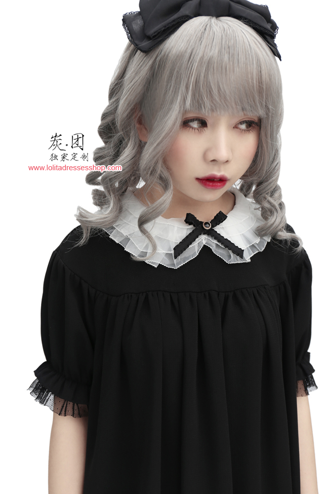 The Antique Baby Dark Sense Short Sleeved Chiffon Lolita Dress