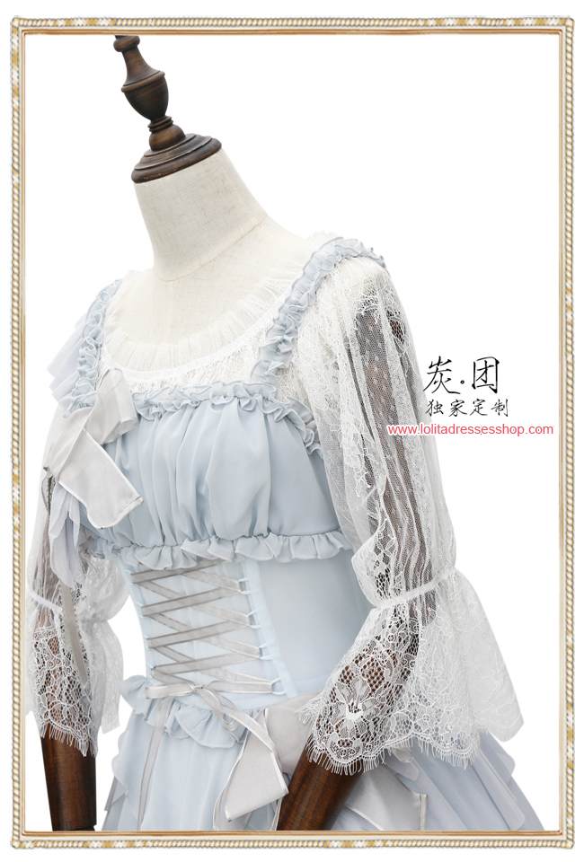 Three Quarter Lantern Sleeve Lace Lolita Blouse