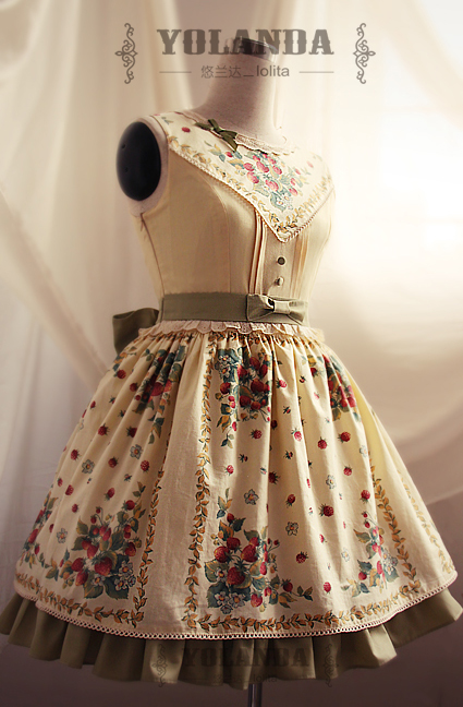 Berry River Strawberry Printing Lolita Dress