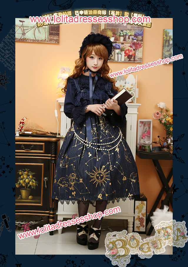 Astrology Series Classical Style Gilding Braces Skirt Lolita JSK
