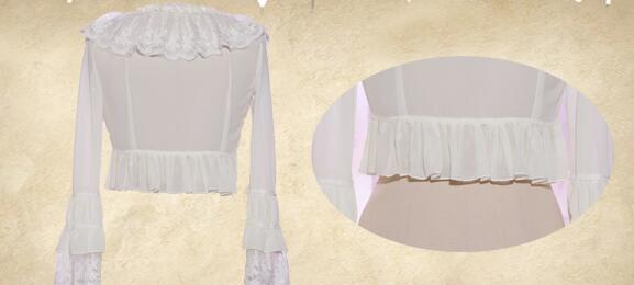 Chiffon Long Sleeve All-match Shell Lolita Blouse