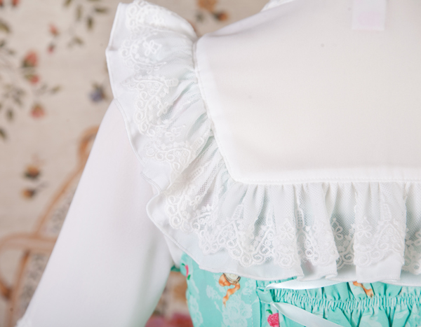 Stand Collar Chiffon Lace Slim Nine Point Sleeve Lolita Blouse