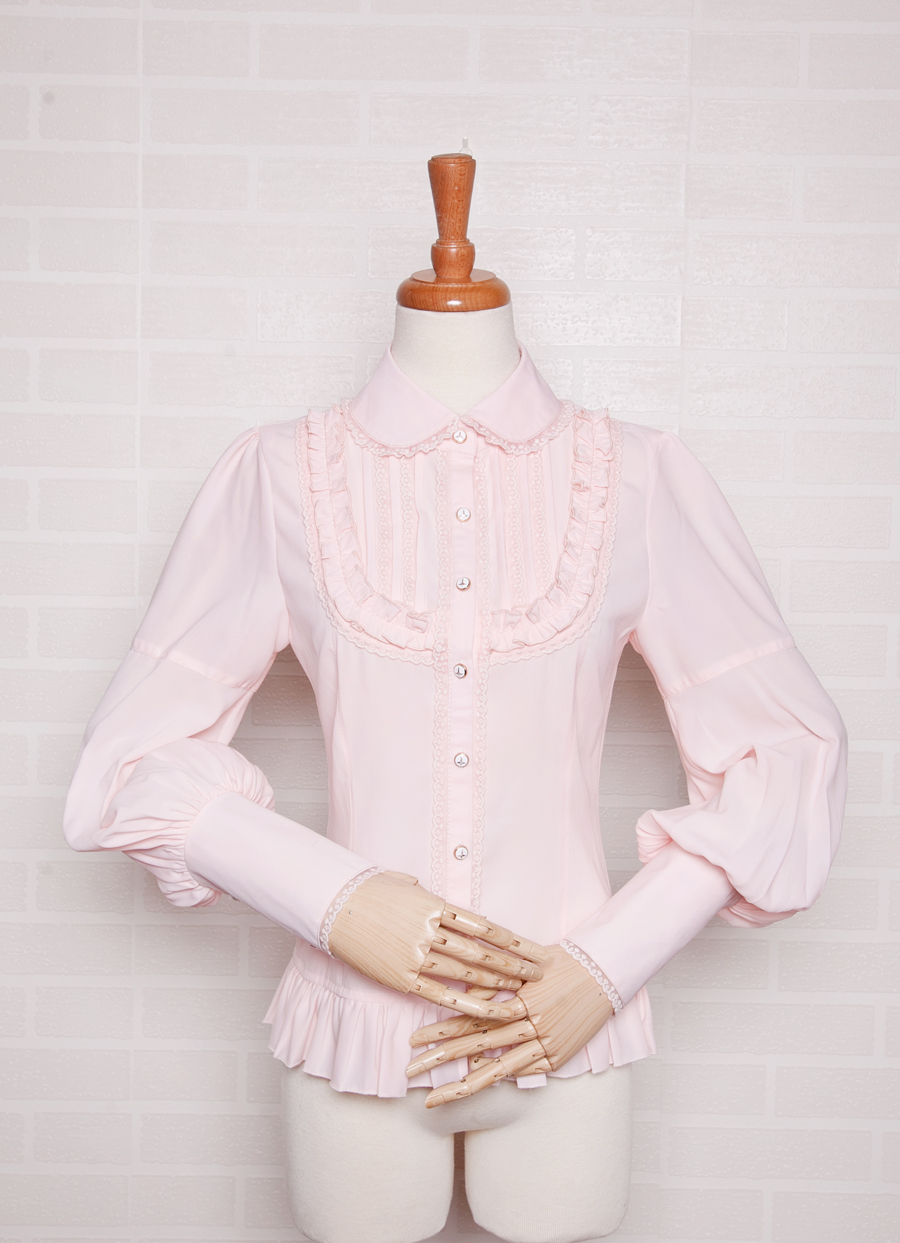 Chiffon Lace Slim Leg-of-mutton Sleeve Lolita Blouse