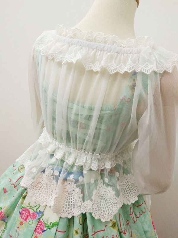 Bubble Sleeve Lace Bra Lolita Blouse