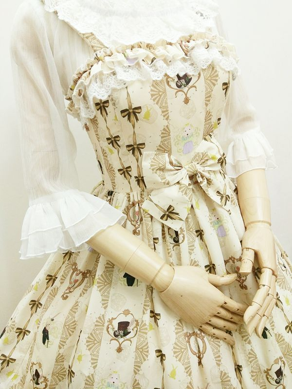 Chiffon Ladies And Gentlemen Printing Lolita JSK
