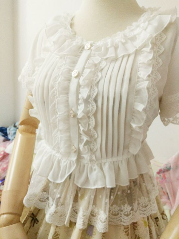 Lace Short Sleeve Lolita Blouse