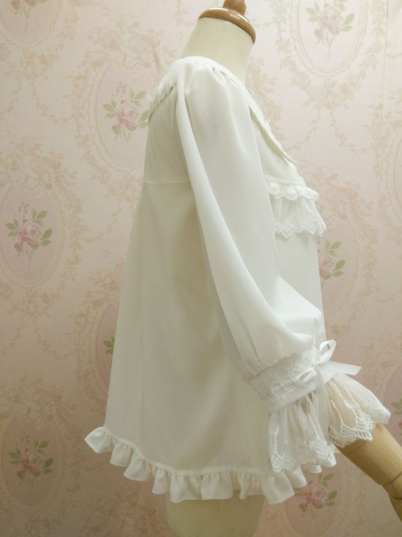 Gorgeous Lace Doll Collar Three Quarter Sleeve Lolita Blouse