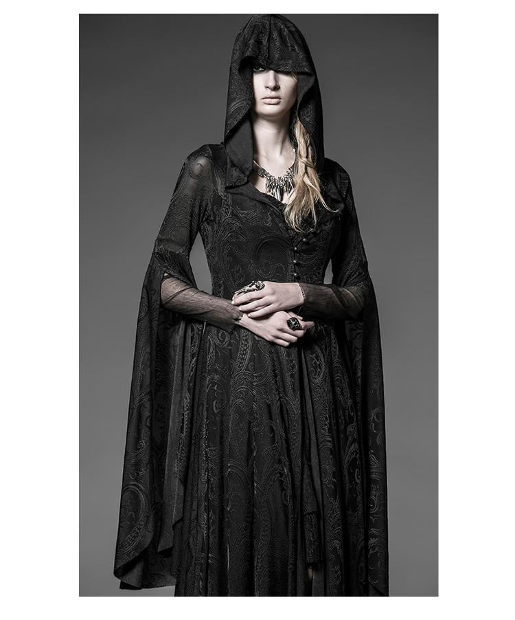 Cheap Halloween Cosplay Hooded Knitted Comic Gothic Dress Sale At