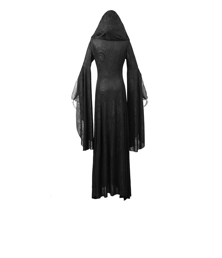 Halloween Cosplay Hooded Knitted Comic Gothic Dress