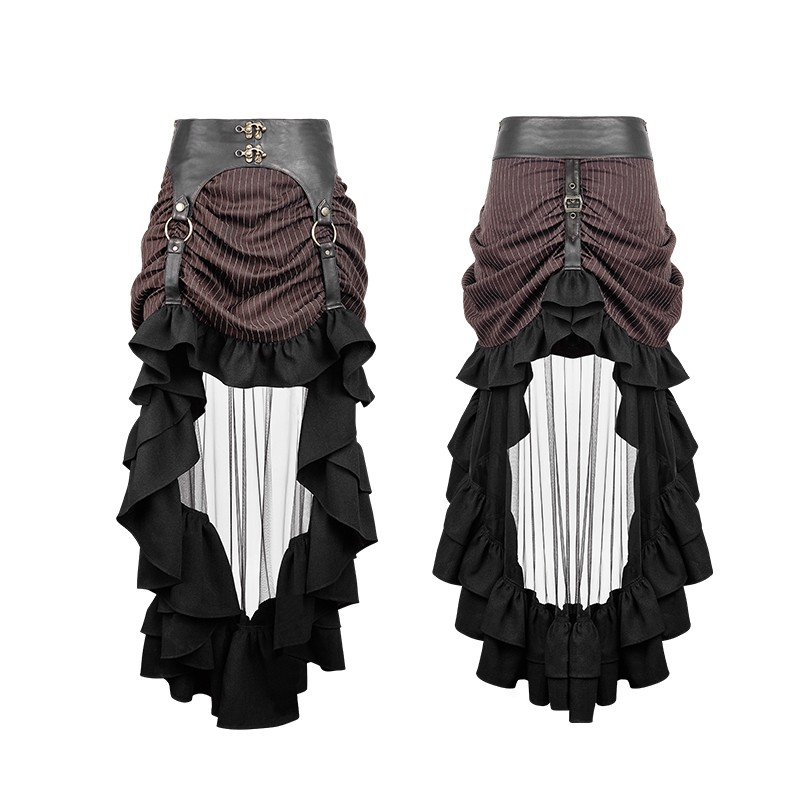 Gothic Steampunk Medium And Long Skirt