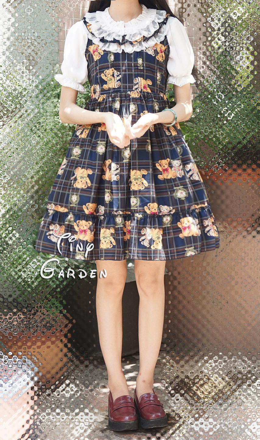 Cute girl Teddy Printing Vest Lolita Dress
