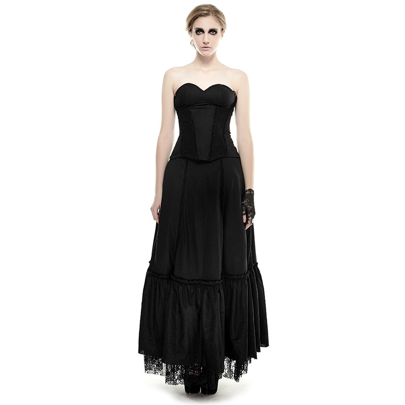 Cheap Black Lace Hem Gothic Dress Sale At Lolita Dresses Online Shop