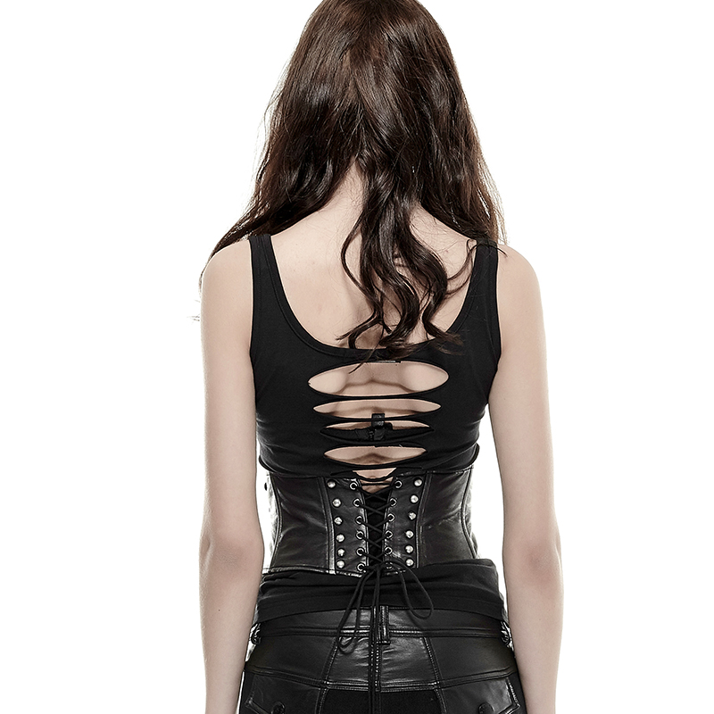 Gothic Punk Waist With Buckle Loop