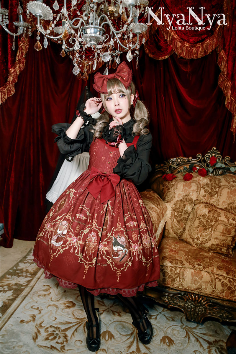 Marimi And Curie Meow High Waist Gothic Lolita JSK