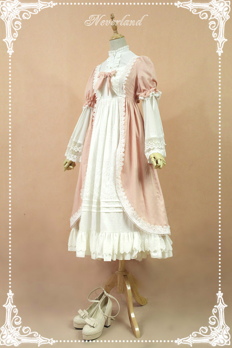 Josephine\'s Day Lolita OP Dress with Detachable Set-in Hime Sleeves