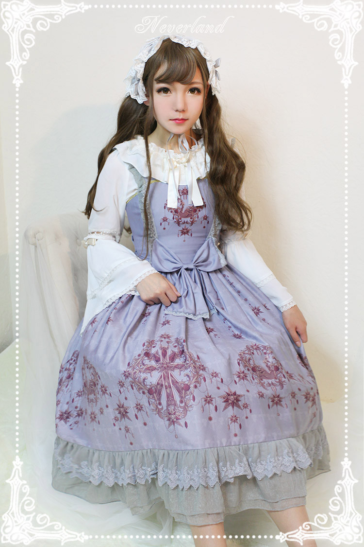 Gem Swan Lolita Normal Waist JSK Dress