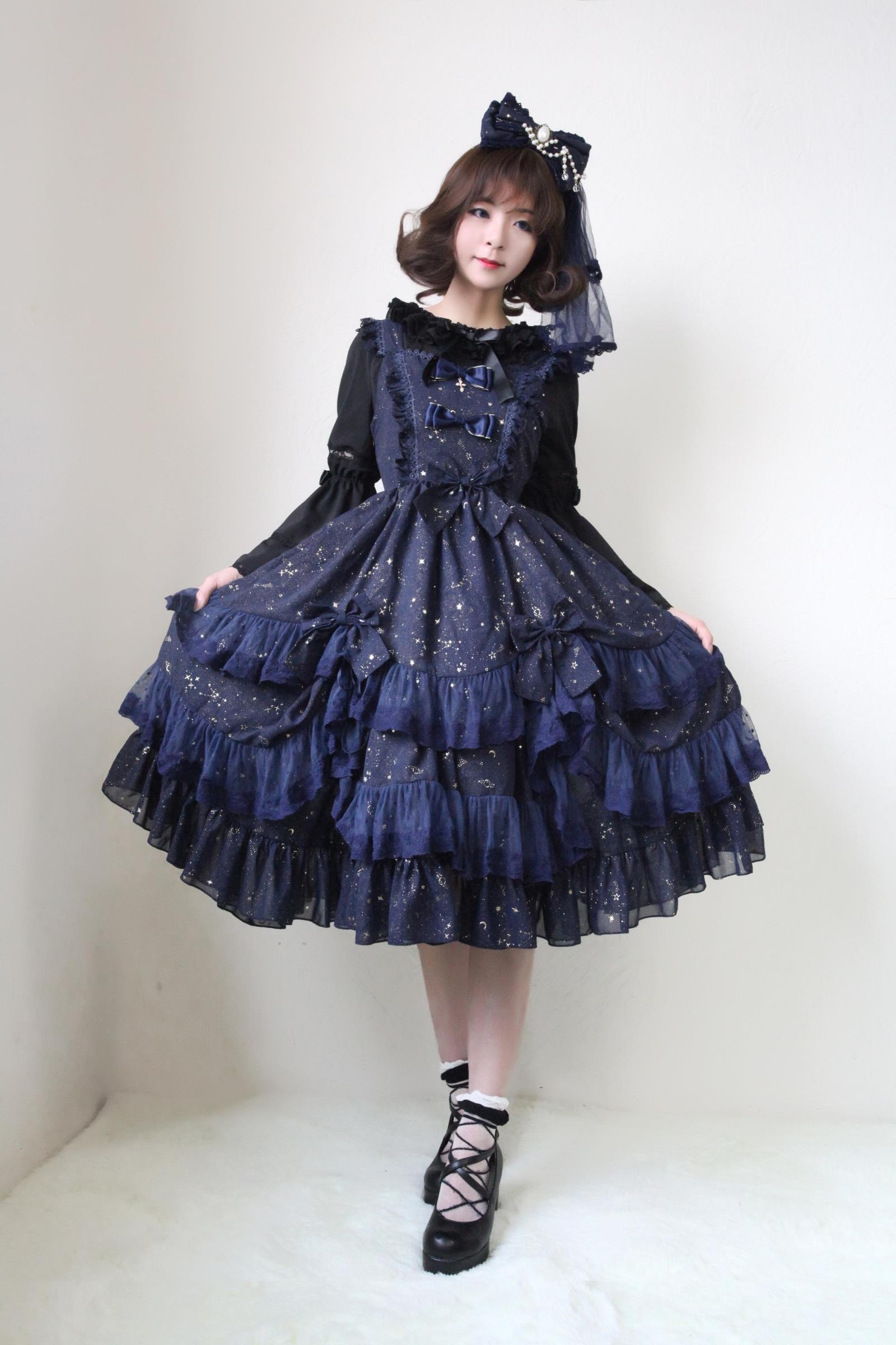31b13772b7dc6 Cheap Chiffon Wish Upon A Star Gilding Lolita JSK Sale At Lolita Dresses  Online Shop