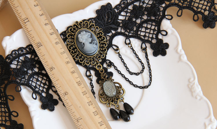 Gothic Christmas Day Ball Pearl Lace Lolita Necklace