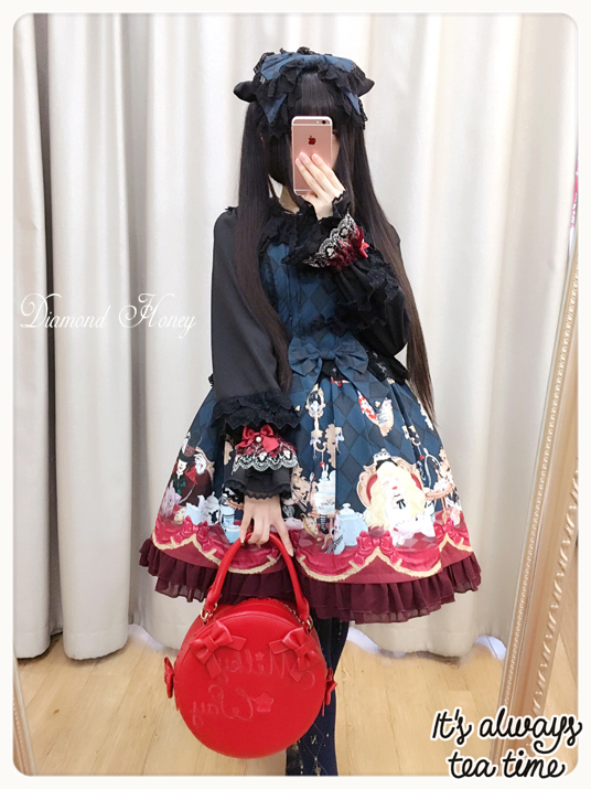 Alice Tea Party Gothic Lolita Dress Dark Fairy Alice Hat Dress JSK