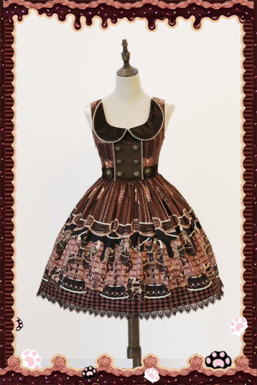 hocolate Trojan Vintage Lolita Normal Waist JSK Dress