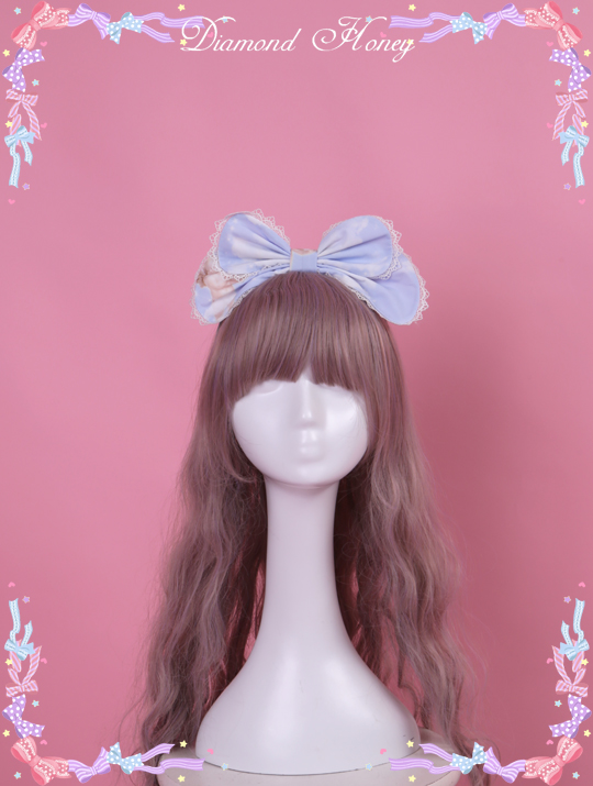 Diamond Honey - Cute gradient pink and white KC headband