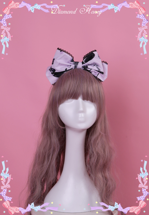 Diamond Honey - Cherry Cross Lolita Cute Goth Little Devil KC Headband