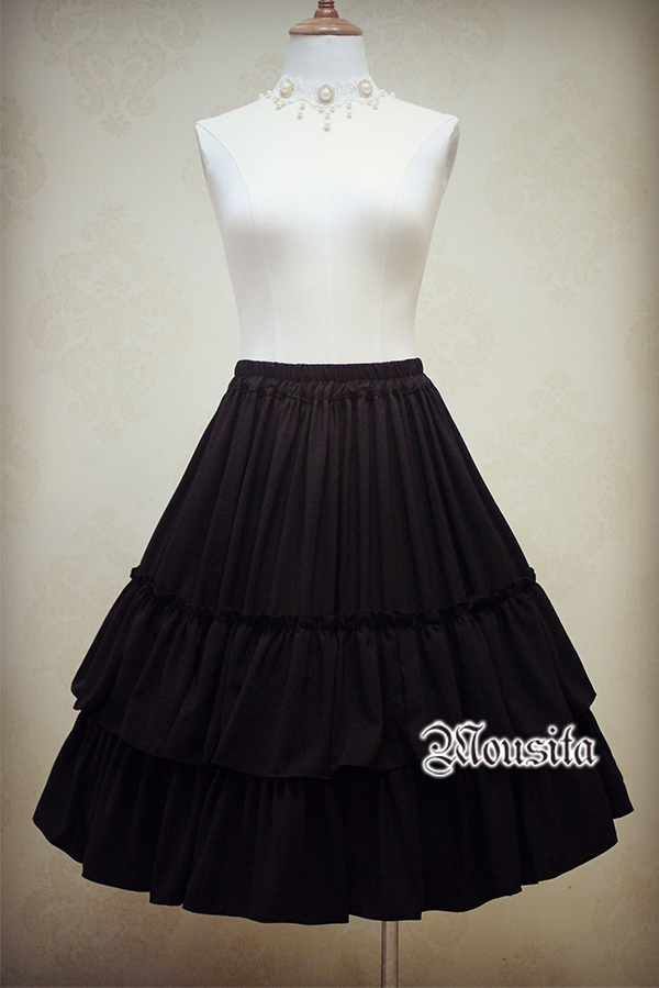 Mousita Lolita Retro Jacquard High Waist Skirt Accepted Tailored