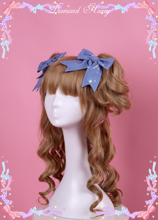 Lolita Rococo cla Department of classical gorgeous bow hairpin retro