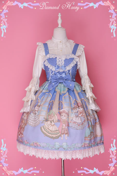 Courtesque cat cat loko cute gorgeous retro cute JSK harness dress