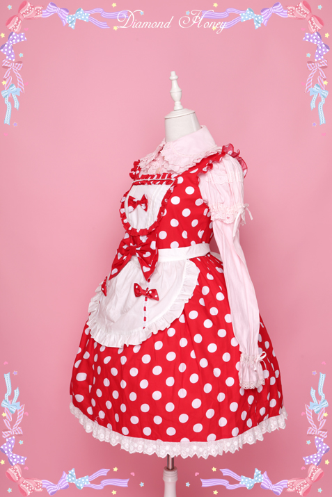 Cute little Japanese windmill wind little red apron