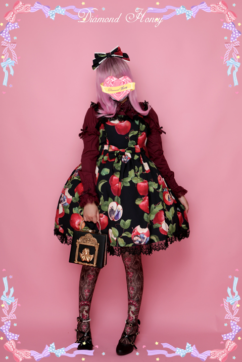 Apple Tradescantia Sillamontana Lolita Printed JSK Dress