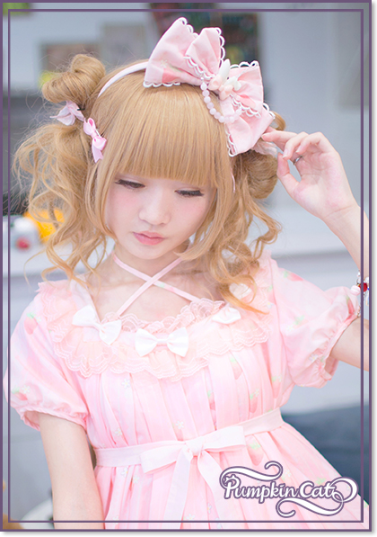 Pumpkin Cat -Spun Sugar Rabbit- Lolita Headbow