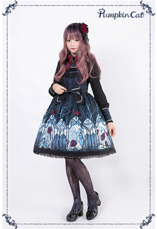 Pumpkin Cat -Beauty the Rose- Lolita Jumper Dress