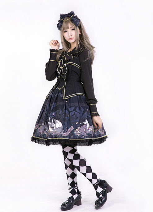 Pumpkin Cat -Dragon\'s Treasure- Lolita JSK Type I