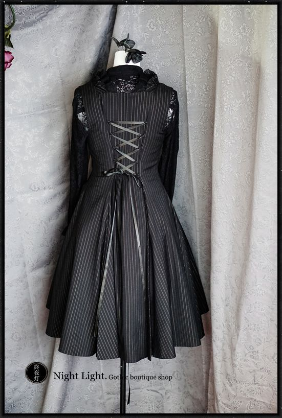 Dark light suit material big swing vest dress