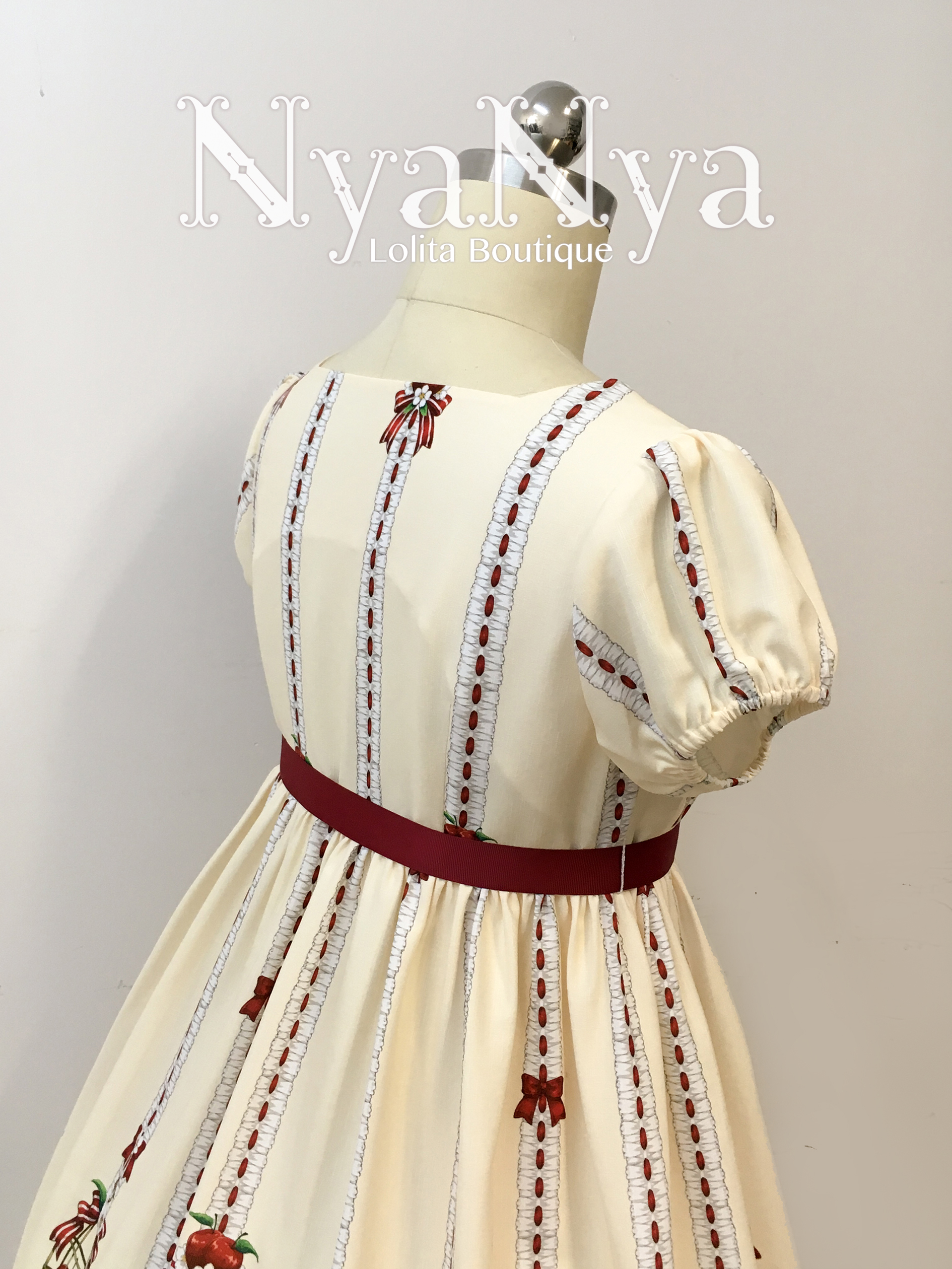 NyaNya - White Feather Ringo - Small High Waist Dress OP