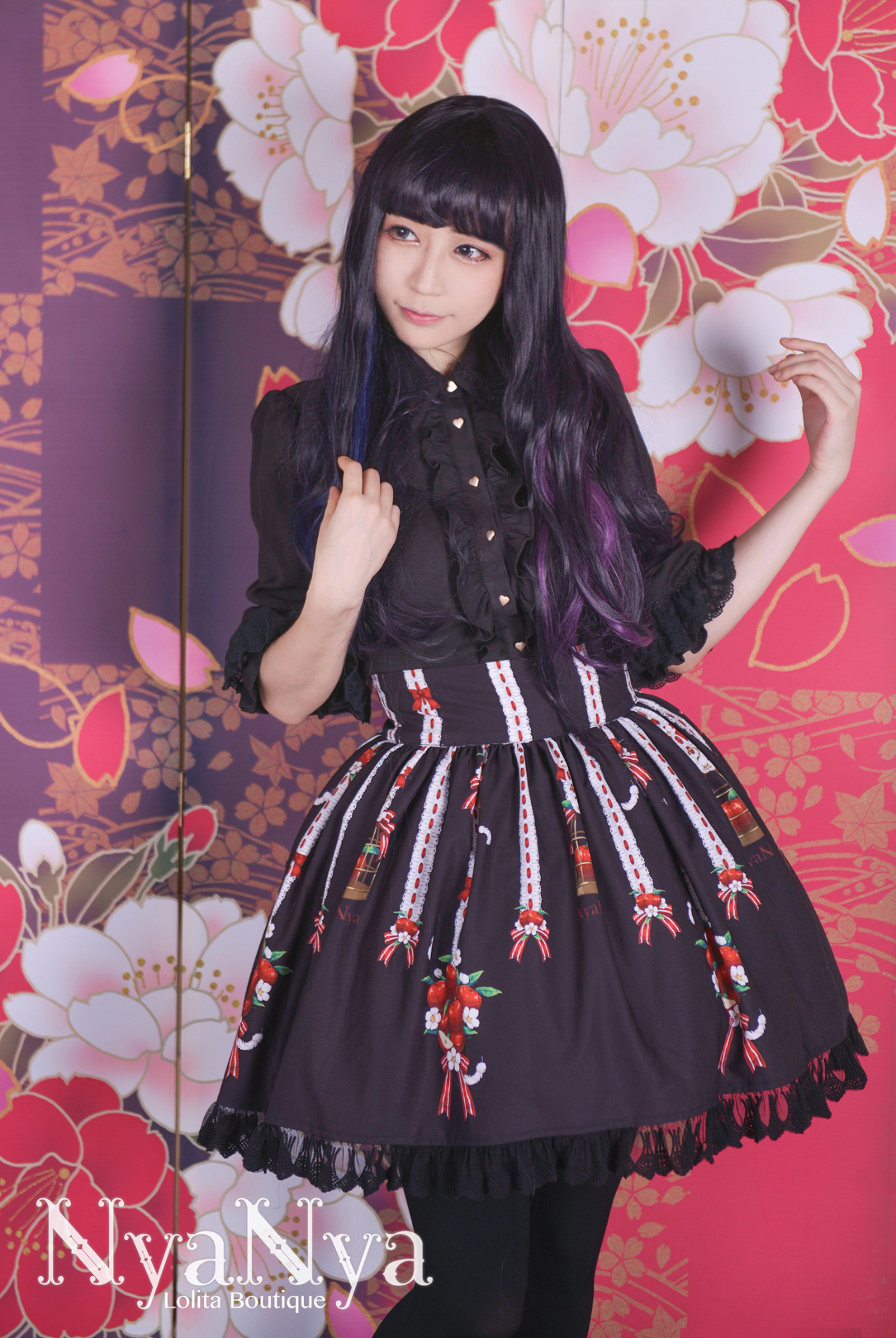 NyaNya - White Feather Ringo - Skirt SK