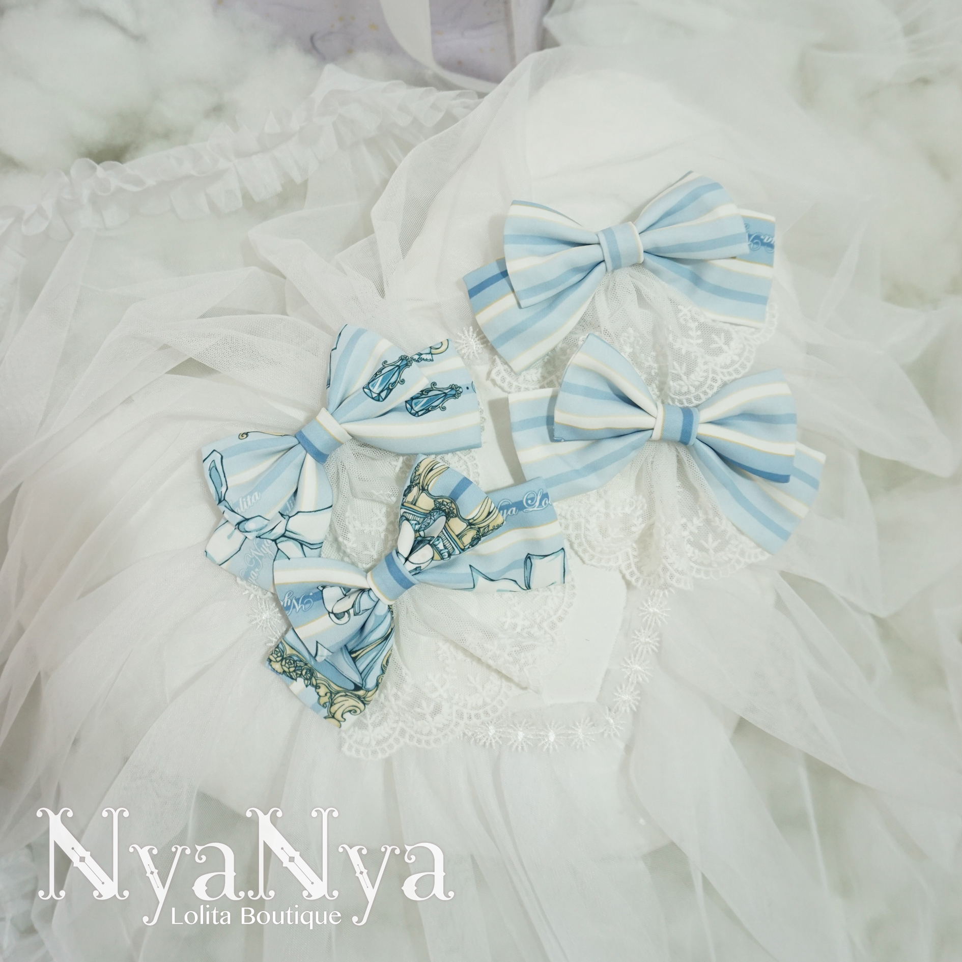 NyaNya - Bear Prince - Bow clip one pair