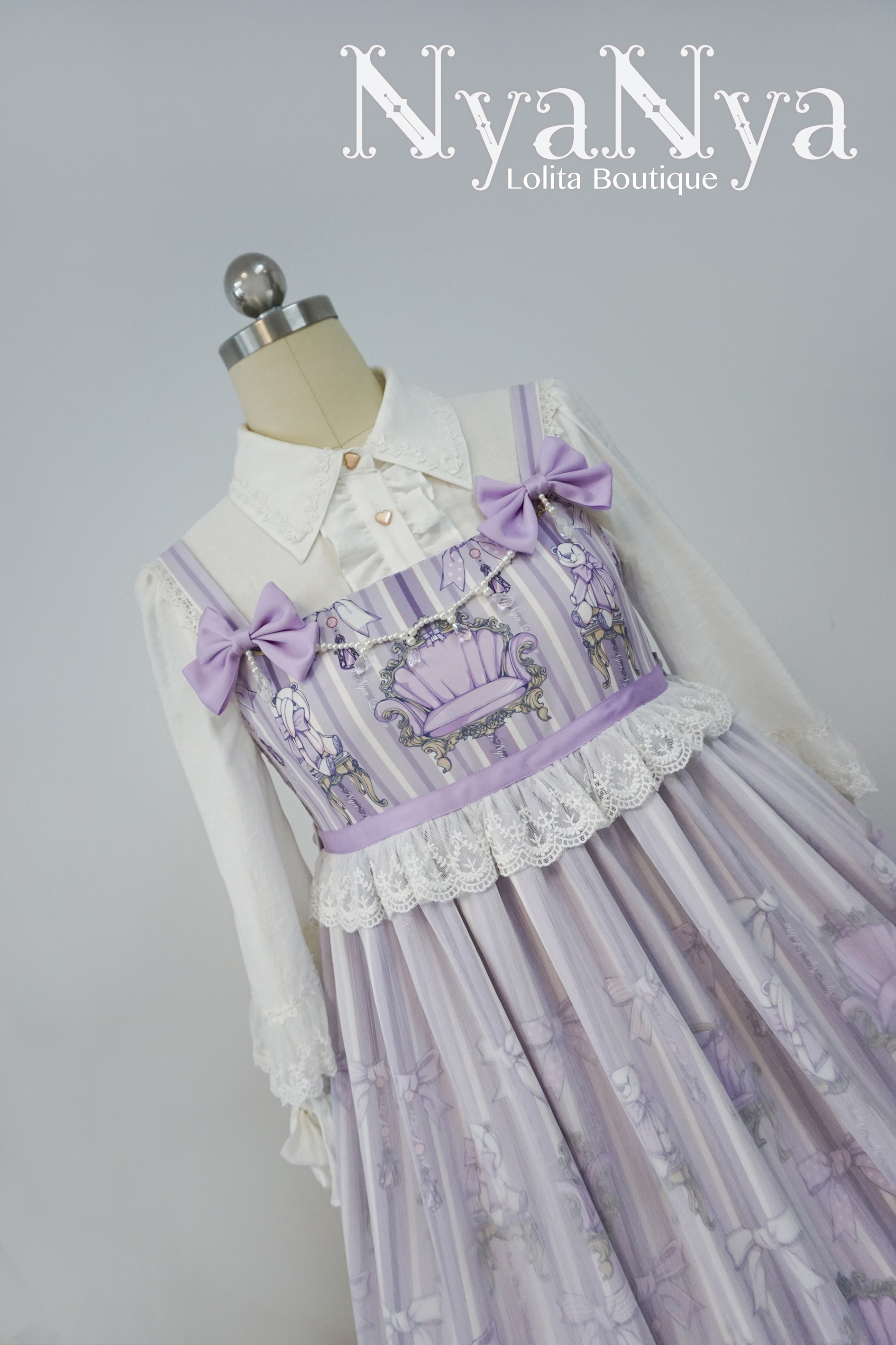 NyaNya - Bear Prince - Yarn dress JSK
