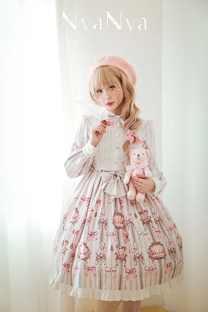 NyaNya - Bear Prince - Long Sleeve Dress OP