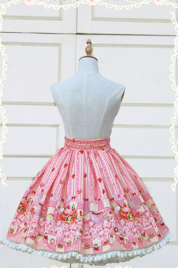 Cute lace strawberry cherry SK dress