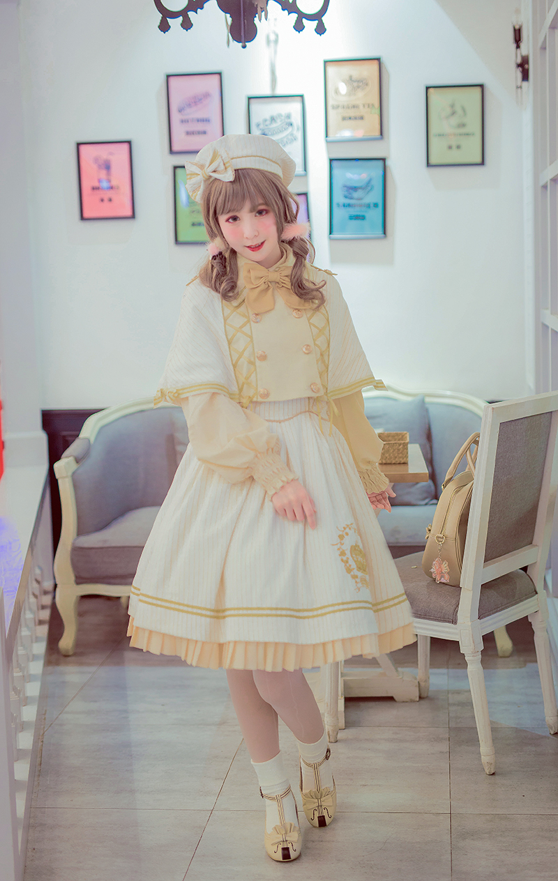 Equinox Lolita Studio -Rose Crown- Embroidery Lolita Jumper Dress