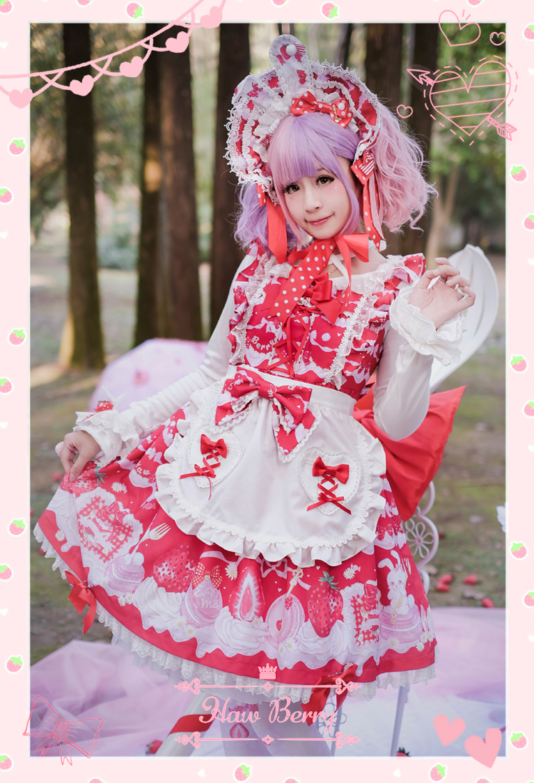 Strawberry Temptation Apron